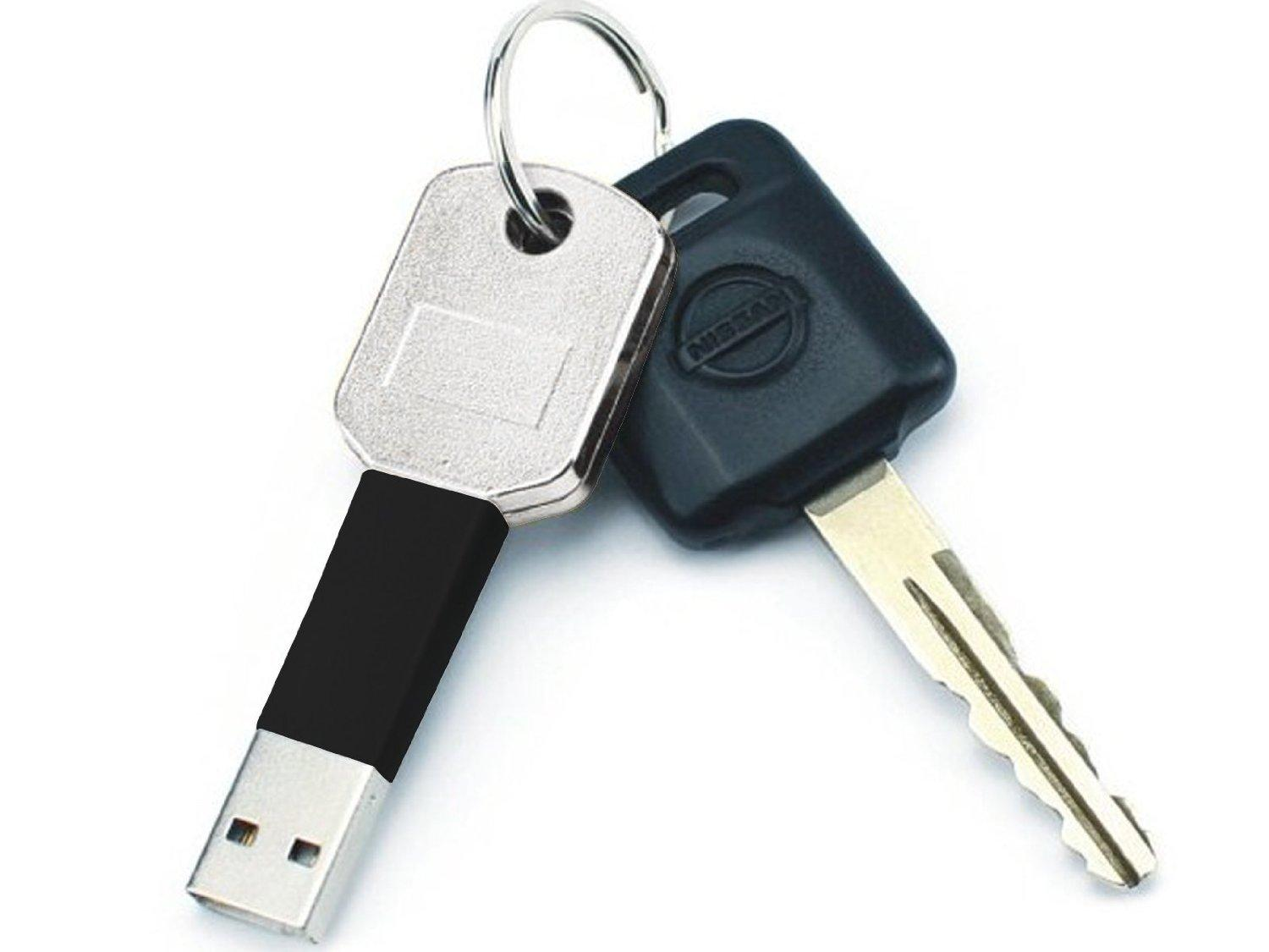 buy keyring usb charger iphone 5 5s only at uerotek. Black Bedroom Furniture Sets. Home Design Ideas